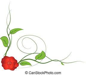 Cute black floral card background. vector illustration.
