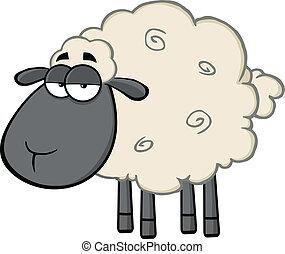 Cute Black Head Sheep Character