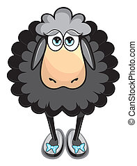 Cute black sheep