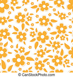 cute, blomster, seamless, baggrund
