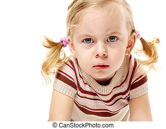 Cute blond fury - Furious adorable little girl frowning and ...
