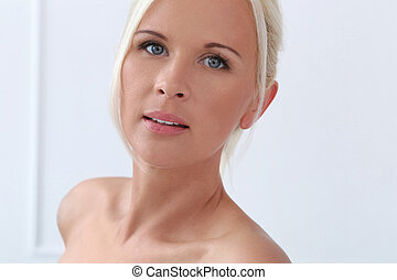 Cute, blonde girl with blue eyes