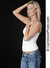 casual fashion - Cute blonde in casual fashion