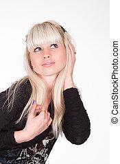 cute blonde posing