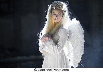 cute, blondie, anjo