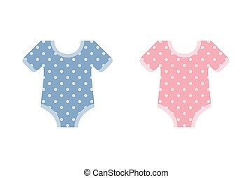 cute blue and pink bodysuit for baby boy and girl