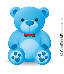 Cute Blue Bear Doll