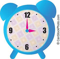 Cute Blue Clock