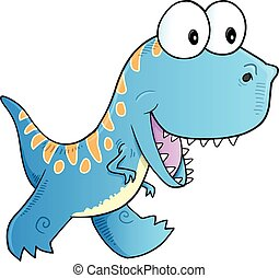 Cute Blue Dinosaur Vector art