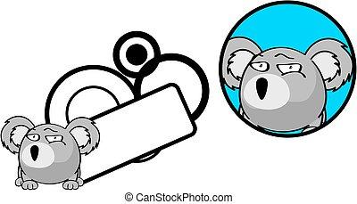 cute, bola, copyspace, koala, sticker6, expressão,...