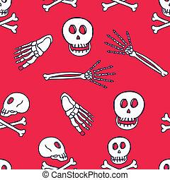 cute bones seamless pattern