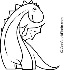 cute, book:, coloração, pequeno, dragão