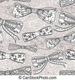 Cute bow seamless pattern.