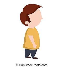 Cute boy cartoon isolated Vector illustration