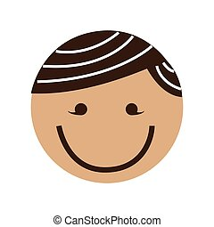 cute boy character icon