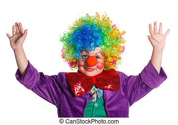 Cute boy clown.