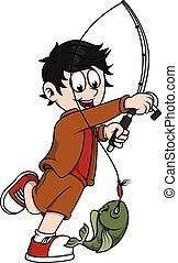Cute Boy fishing