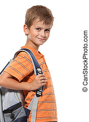 Cute boy smilling isolated on a white background