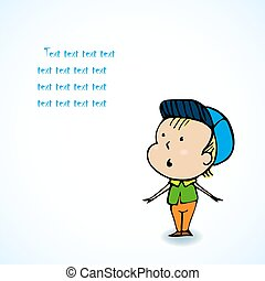 Cute Boy - Vector Character Cartoon Illustration