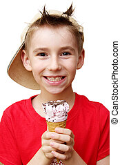 boy with ice cream