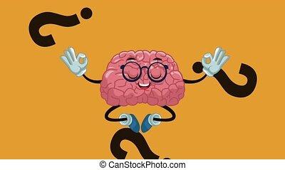Cute brain cartoon HD animation - Cute brain cartoon doing...