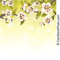 Cute Branches of Cherry Blossom Tree