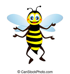 Cute bright funny bee