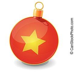 Christmas toy ball icon