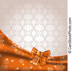 Cute brown backdrop with ribbon bow