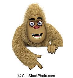 cute brown bigfoot
