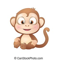 Cute Brown Monkey Smiling