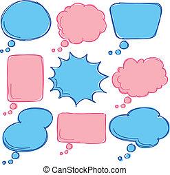 cute bubble speech