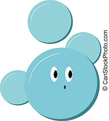 Cute bubbles, illustration, vector on white background.
