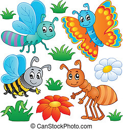 Cute bugs collection 2 - vector illustration.