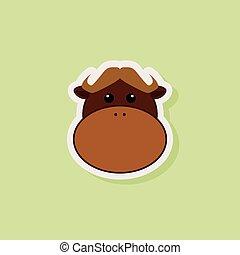 Cute Bull Face