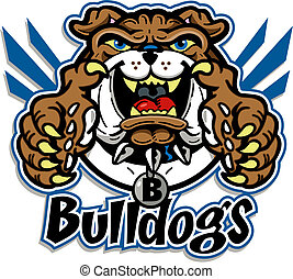 cute bulldog mascot