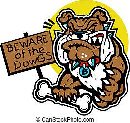 cute bulldog with bone