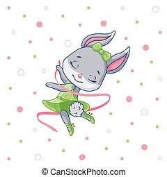 Cute Bunny Ballerina
