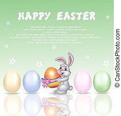 Cute bunny cartoon with happy