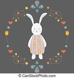 Cute Bunny Character for cards, t-shirts, Easter themes, etc.