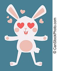Cute Bunny Crazy in Love