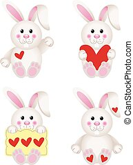 Cute Bunny With Heart