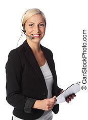 Cute businesswoman