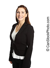 Cute businesswoman in suit - A young professional...