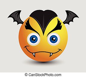 Cute But Evil Vampire Bat Emoji