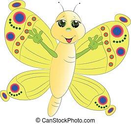 cute butterfly cartoon vector illustration