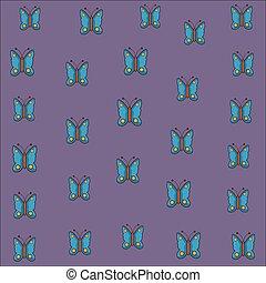 cute butterfly pattern cartoon