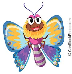 Cute butterfly with colorful wings