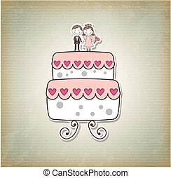 cake just married