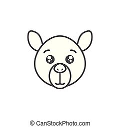 cute camel animal line style icon